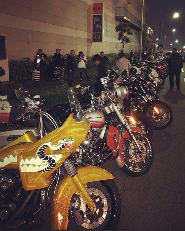 The bike night in Nagoya that we started.  12 years have passed since I started.  Young people are inheriting.#bikenight