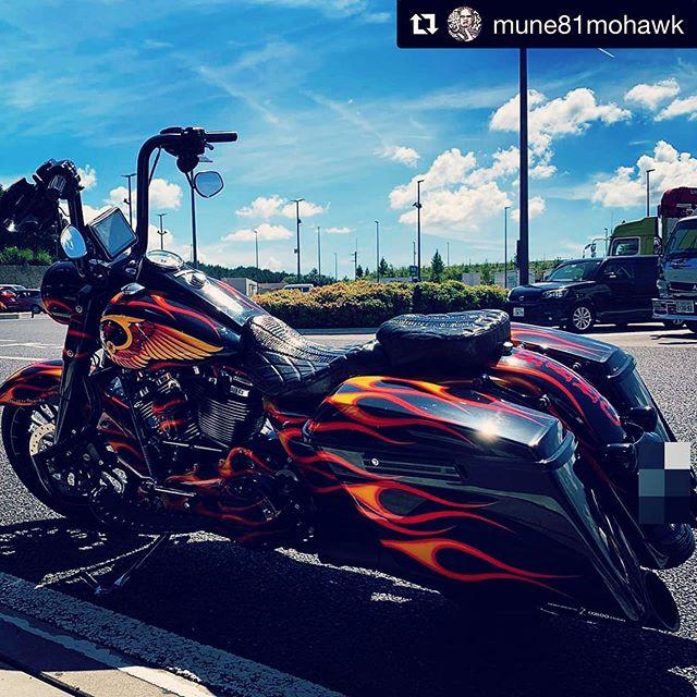 #Repost @mune81mohawk with @get_repost・・・#hellsangels #hamc #biker #81 #mc  #ヘルズエンジェルス #バイカー #dynamight  #street #bagger  #flhr #harleydavidsons #ハーレー  #japanesebiker #ftw  #nomads#syl81 #support81 #roadking#flhr #Coboostudio #バイク #fxdx #fxdxt  #dyna #bike  #motorcycle