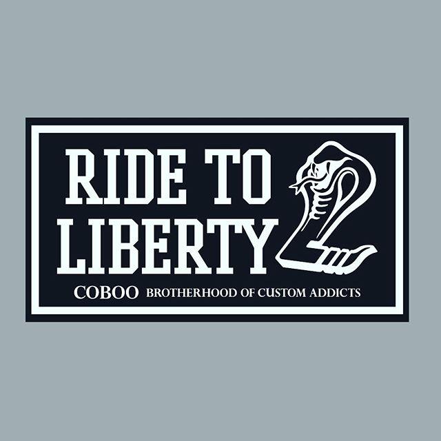 """出来上がって来たらお渡しします♫一緒に走って頂く機会に1人1人にお渡しする"""" Ride to Liberty""""ステッカー作りました♫ 渡すの忘れていたら、頂戴!って言ってください♫笑笑#coboo #ridetoliberty"""