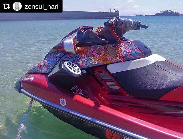 免許取りにいかなかん♫#Repost @zensui_nari with @get_repost・・・Summer 2019 from Kyushu, Japan. 🤘🏼 Thank you!#jetski #summer #irezumi #irezumipaint #irezumiart #art @__coboo__  #zensuinarita #bushido