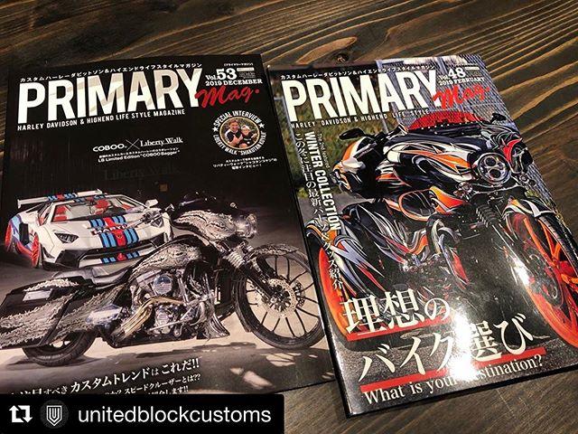 #Repost @unitedblockcustoms with @get_repost・・・Two units responsible for UBC promotion. Primary magazineのCoverに登場したこのスペシャルな2台には、#unitedblockcustoms のクロム,ブラックそれぞれのビレットパーツ、ボディーキットがフルに装着頂いております。是非、イベント等にて実車をご覧いただけたら我々の美と情熱がお伝えできると思っております!#ユナイテッドブロックカスタムズ #ハーレーダビッドソン #ハーレー #harleydavidson #customharley #triglide #triglideultra #freewheeler #streetglide #roadglide #cvo #roadking #billetparts
