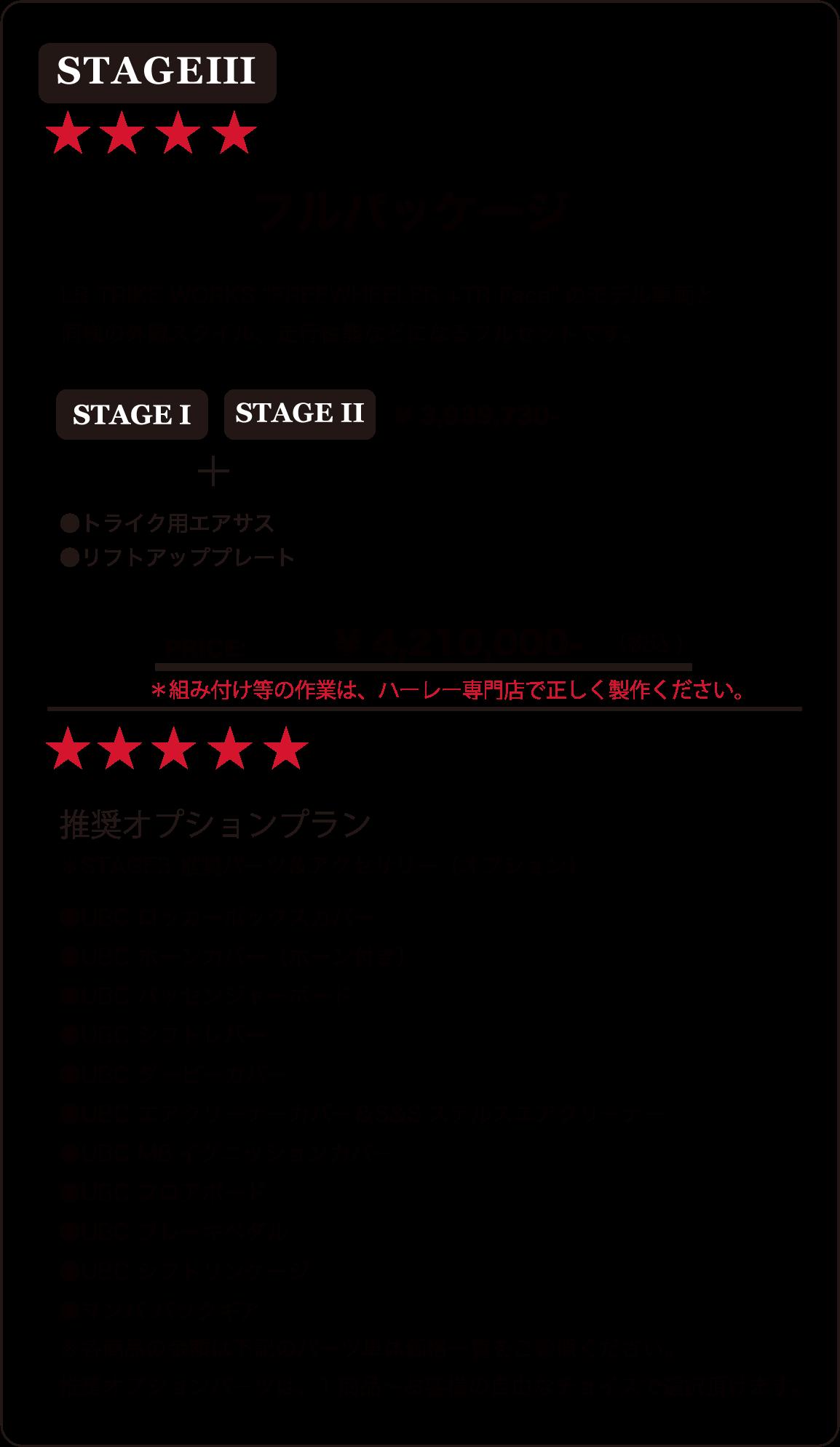 "Stage 3 FREEWHEELER + TR FACE ""LB TRIKEWORKS ""BODY KIT"