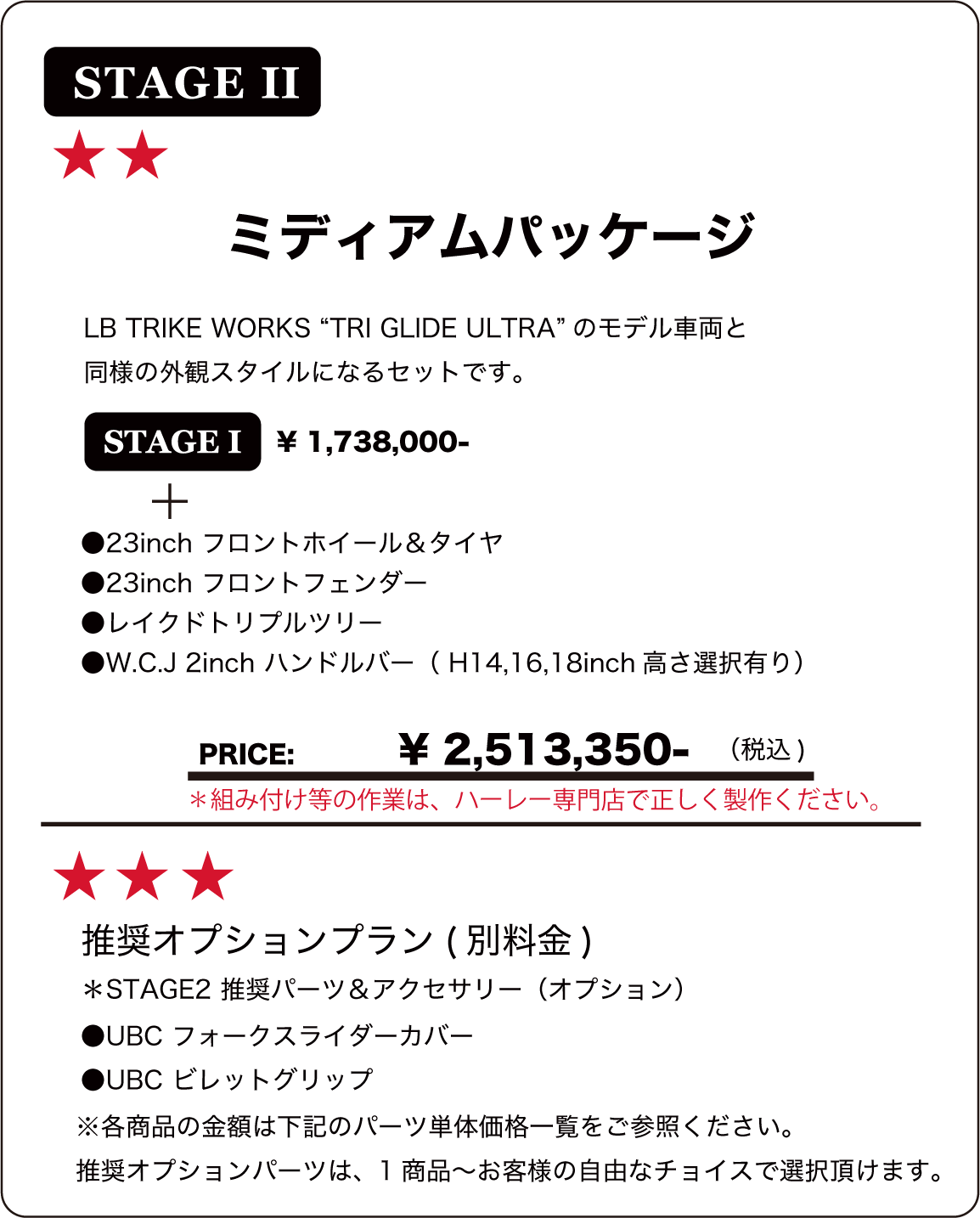 "STAGE 2 TRI GLIDE ULTRA 2014~ ""LBSTAGE2STAGE1 TRIKEWORKS ""BODY KIT"